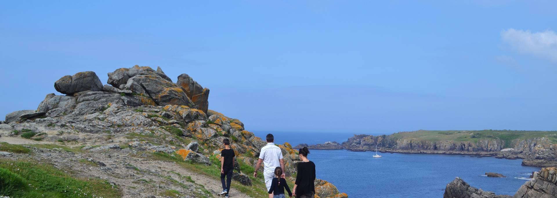 Fußwanderung  an der wilden Küste, Ile d'Yeu