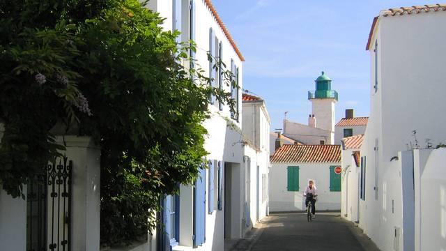 Straße in Port-Joinville, Les Mariés, Ile d'Yeu