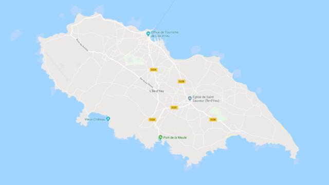 Karte der Ile d'Yeu