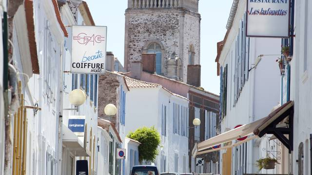 Die Straßen in der Hafenstadt - Ile d'Yeu