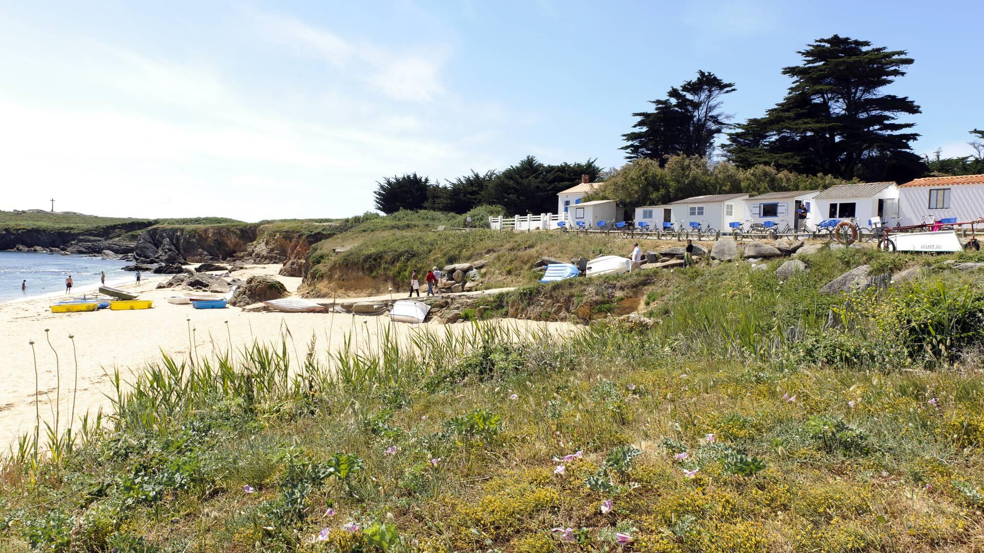 """Strandhütte an der """"Plage des Sabias"""" auf der Ile d'Yeu"""