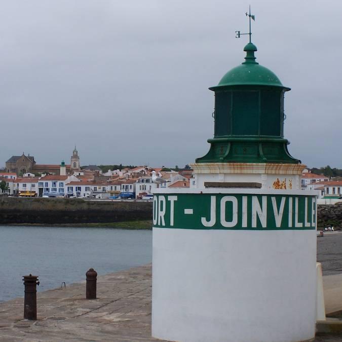 Leuchtturm auf der Mole, Port-Joinville, Ile d'Yeu