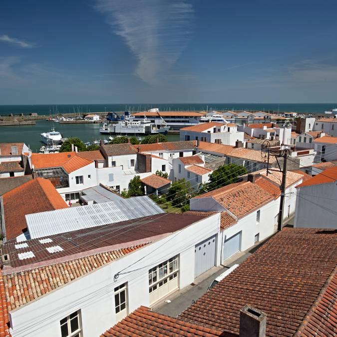 Dächer von Port-Joinville, Ile d'Yeu